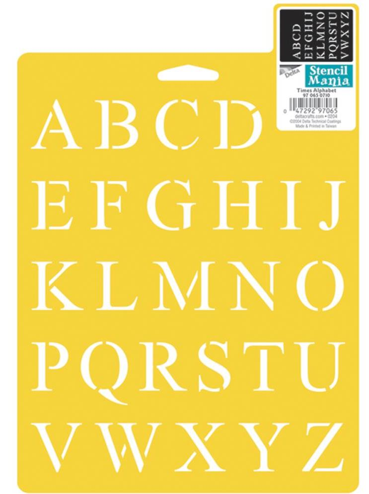 Stencil Times Alphabet 17 X 22cm Furniture Paint And Upholstery Supplies