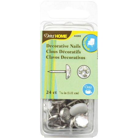 Decorative Nails, 1.11cm Clear Glass