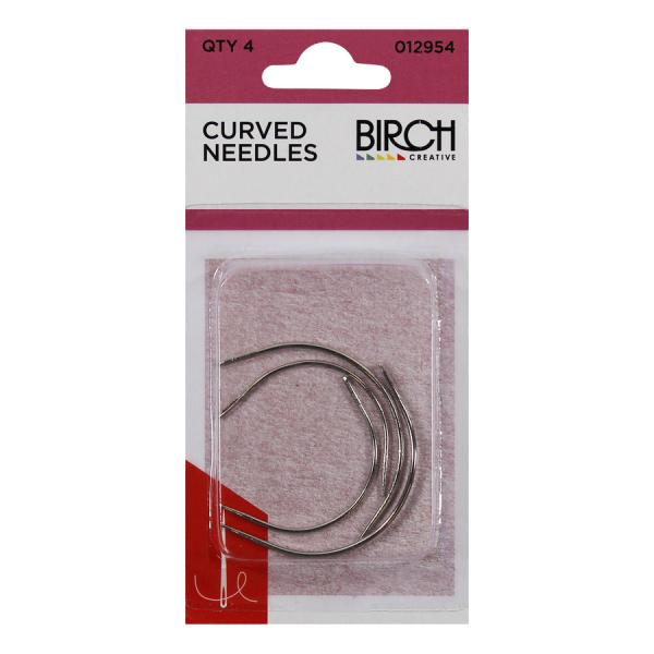 Curved needles, 4 pk