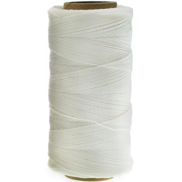 Waxed Polyester Thread, White, 247m