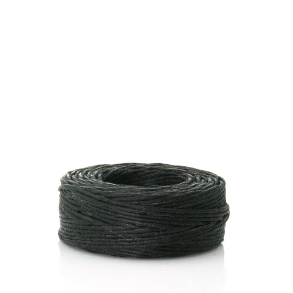 Waxed Linen Thread, Black, 22m