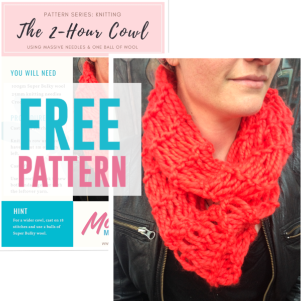 Free 2 Hour Cowl Knitting Pattern Shop For Nz Upcycling Supplies