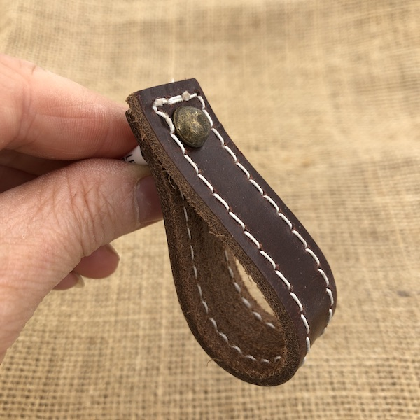 Leather Drawer Pulls, Brown