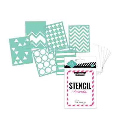 6PK Stencil Mini Kit Patterns 10cm x 7cm