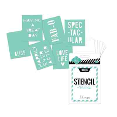 6PK Stencil Words & Sayings