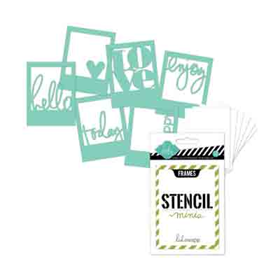 Stencil 6pk Words in Frames