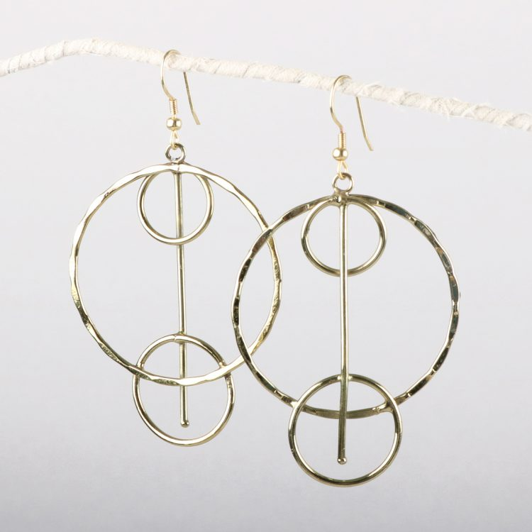 Triple Ring Earrings