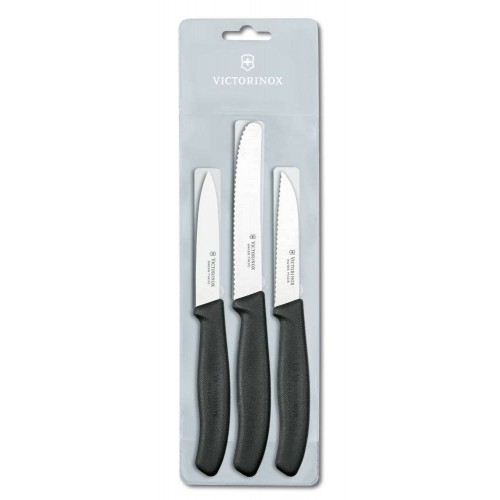 Victorinox Paring Knife Set, 3pc, Black