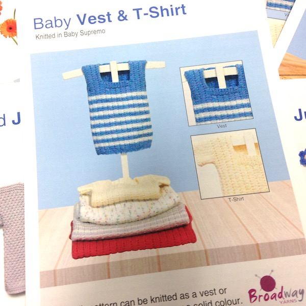 PATTERN: Baby vest & shirt, 4PLY