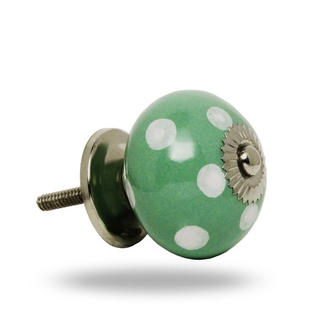 Knob Polka Dot Green
