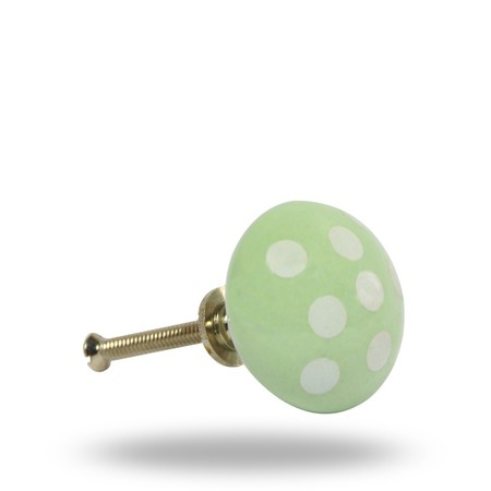 Knob Polka Pot L/Green