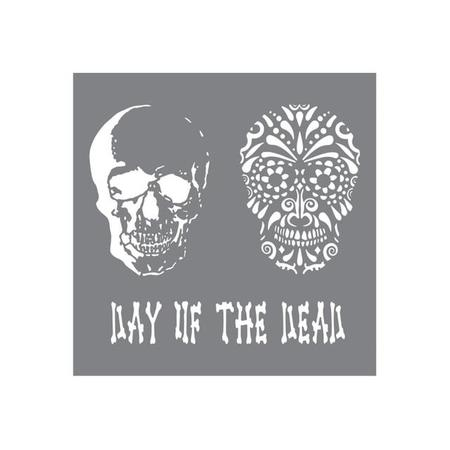 Stencil Day of the dead 20 x 20cm