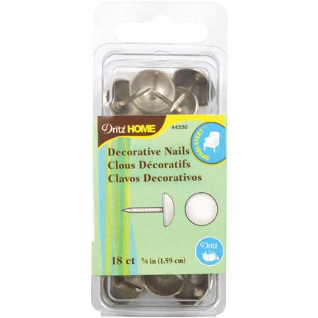 Decorative Nails, 1.59cm brushed silver