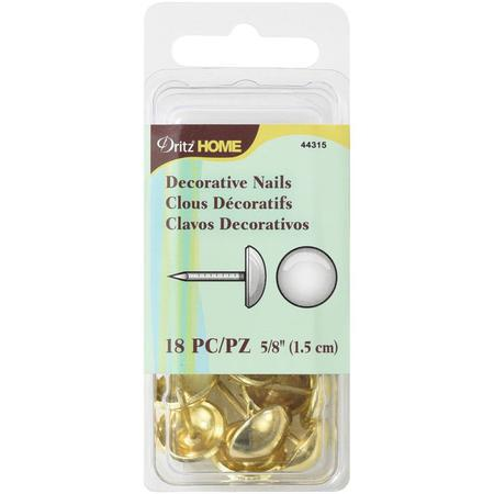 Decorative Nails, 1.5cm Gold
