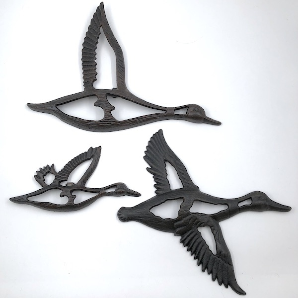 Cast Iron Flying Duck, 3pc