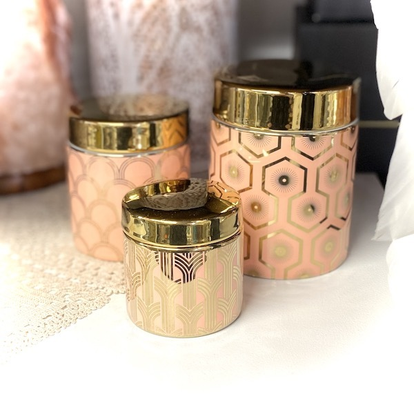 Jazz Age Pink/Gold Cannister