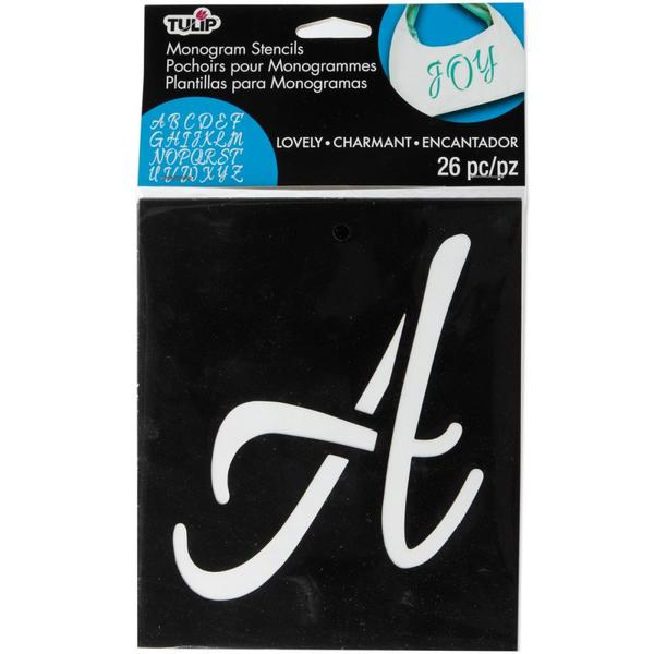 Stencil Adhesive Lovely Monogram 5