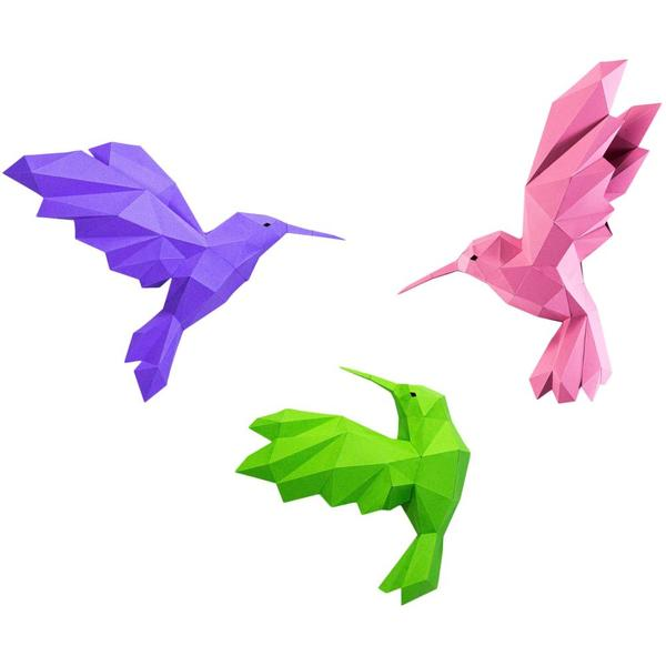 Origami Kit: 3D Hummingbirds