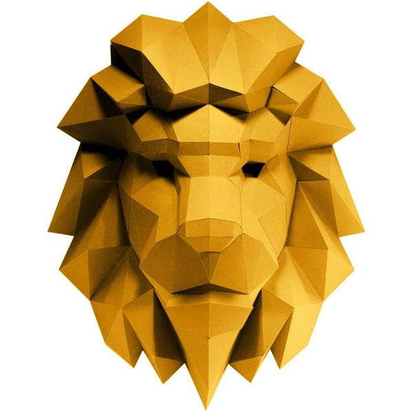Origami Kit: 3D Lion Head