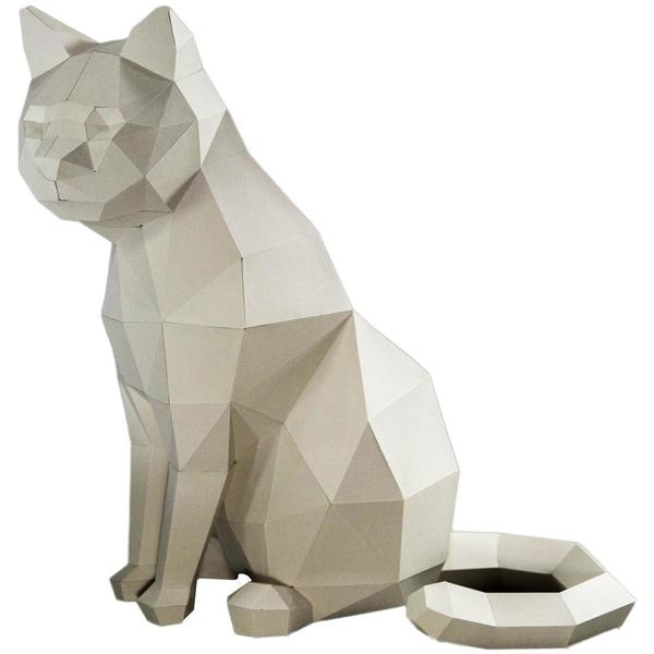 Origami Kit: 3D White Cat