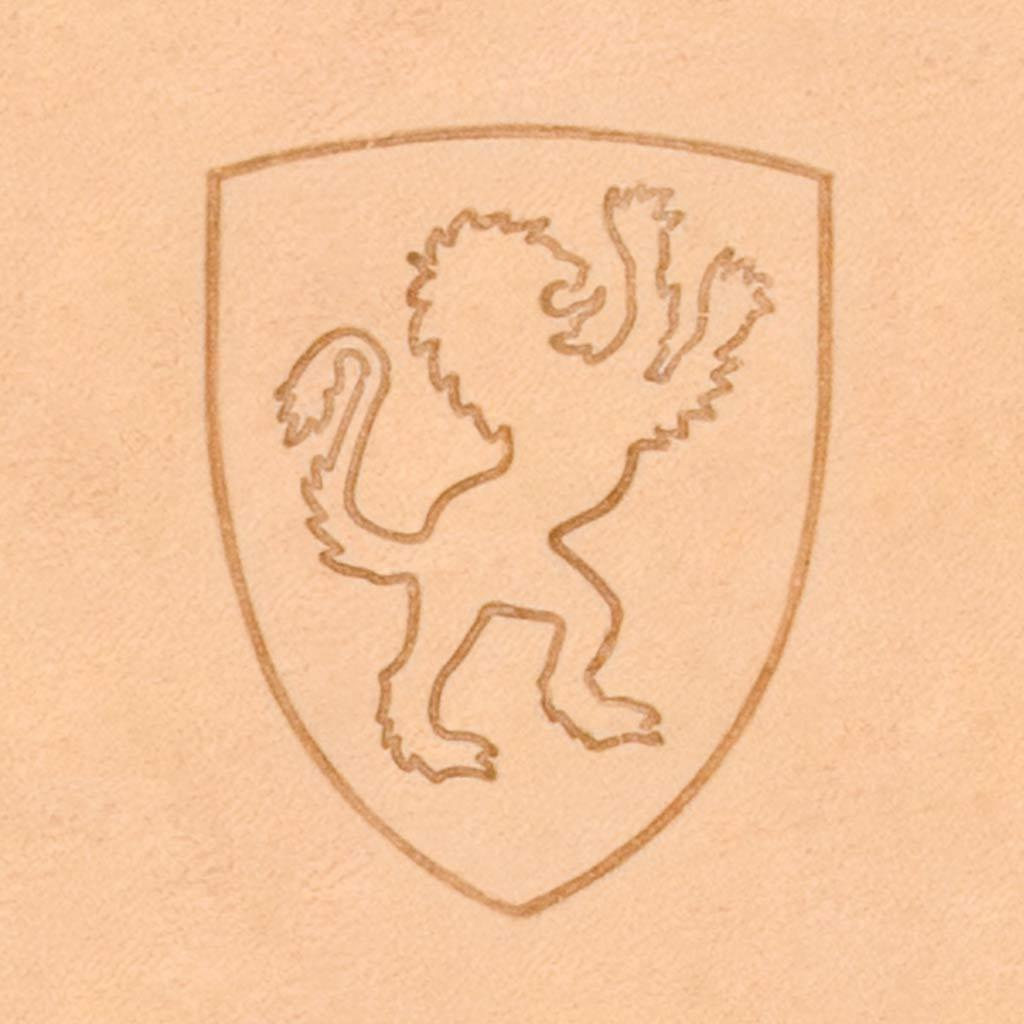 Lion Shield 2D Stamp