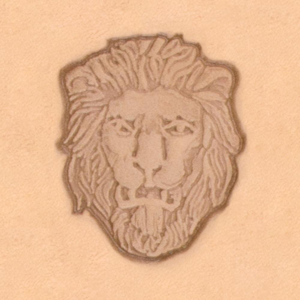 Lion Head Crest 3D Stamp